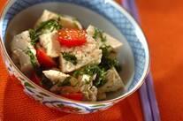 くずし豆腐の大葉和え