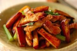 豚肉とサツマイモの旨塩炒め(下準備1時間有り)