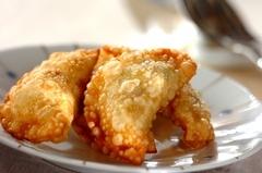 納豆とアボカドの揚げ餃子