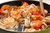 エビとキノコのクリーム炒めの作り方5