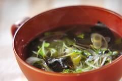 貝われ菜のスープ