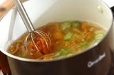 オクラと豆腐のおみそ汁の作り方2