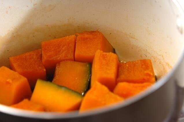カボチャのゴマきな粉和えの作り方の手順2