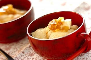 ショウガシロップのお豆腐デザート