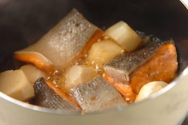 鮭の豆乳シチューの作り方の手順3