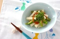 長芋とオクラの梅麺つゆ和え