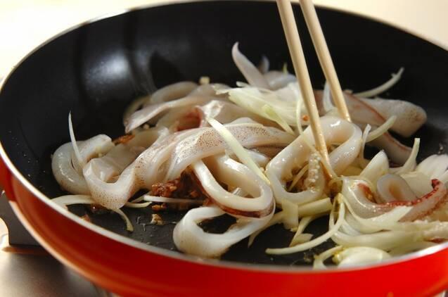 イカスミスパゲティーの作り方の手順6