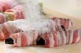 高野豆腐とナスの豚バラ巻きの作り方2