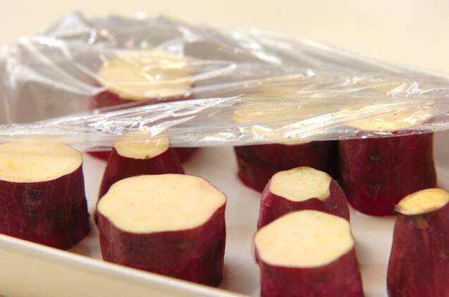 サツマイモのメープルスコーンの作り方の手順3