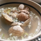 アサリのスープ