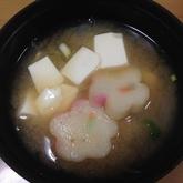麩と豆腐のみそ汁
