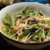 水菜とインゲンのゴマ和え
