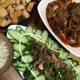 肉巻き豆腐のチリソース炒め