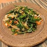 空心菜のエスニック風蒸し煮炒め