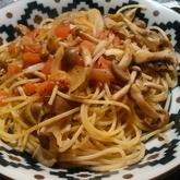たっぷりキノコのスパゲティー