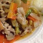 豚肉と野菜の細切り炒め