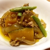 豚肉とカボチャの煮物
