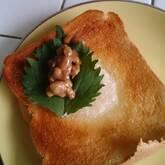 ゴママヨ納豆トースト