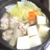 骨付鶏肉の水炊き鍋