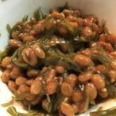 刻み昆布と納豆の和え物