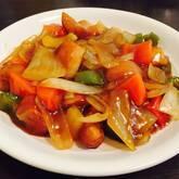 野菜たっぷり酢豚