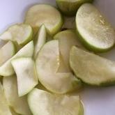 リンゴのホイル焼き