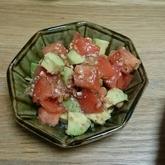 トマトとアボカドのマヨ炒め