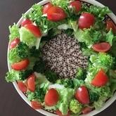 リースのサラダ