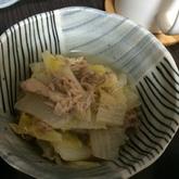 ツナ缶のサッと煮