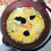 カニと卵の雑炊