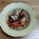 ヒジキと厚揚げの甘辛煮