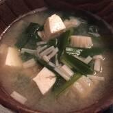 エノキのみそ汁