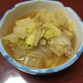 白菜とジャコのスープ煮