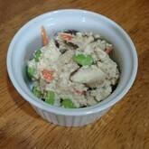 レンジ調理で!木綿豆腐の簡単白和え