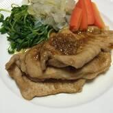 豚肉マリネのショウガ焼き