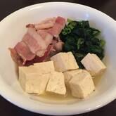 豚肉とホウレン草のサッと煮