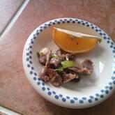 砂肝のニンニク炒め