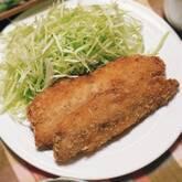 アジのフライ梅肉ソース