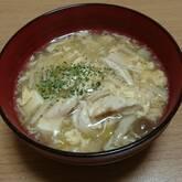 ささ身とふんわり卵のスープ
