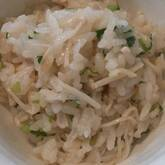 エノキのシンプル炊き込みご飯
