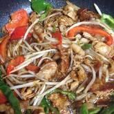 細切り豚肉と野菜炒め