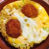 コロッケの卵とじ丼