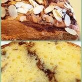 マーブル模様のチョコバナナケーキ