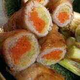 照り焼き豚の野菜巻き