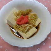 豆腐のレンジ蒸しネギダレがけ