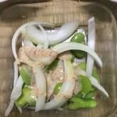 ソラ豆と新玉ネギのサラダ