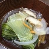 チンゲンサイの中華スープ