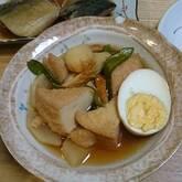厚揚げと卵の煮物
