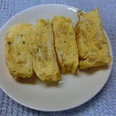 新玉ネギの卵焼き