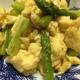 ホワイトアスパラの卵炒め